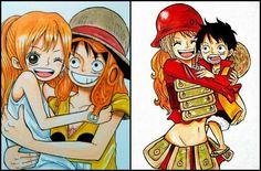 Luffy x Nami One Piece One Piece Manga, One Piece Nami, One Piece World, One Piece Ship, Mugiwara No Luffy, Luffy X Nami, Gruvia, Anime Echii, Anime Base