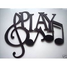 Play Word with Notes Metal Wall Art Music Decor by sayitallonthewall on Etsy Music Bedroom, Karel Gott, Diy Vintage, Music Words, Music Wall Art, Music Wall Decor, Metal Wall Art Decor, Music Classroom, Music Lovers