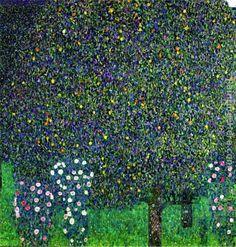 Gustav Klimt Roses Under the Trees, circa 1905 - Ipaintingsforsale.com