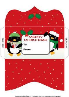 Christmas Penguins Money Wallet 2 on Craftsuprint - Add To Basket!