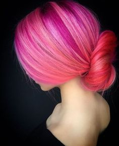 HAIR COLOUR - Multi Colour Tones - Raspberry Pink, Peachy Pink & Pale Pink