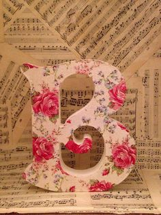 Handmade Decoupaged Letters of the Alaphabet by BoutiqueBareBones, £8.00