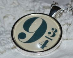 Harry Potter Inspired Hogwarts Express 9 3/4 Platform Number Necklace