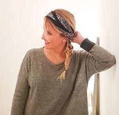 Idée de coiffure avec un foulard en soie