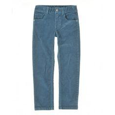Pantalone, 5 tasche, in cotone colorato. Passanti in vita. Elastico regolatore in vita.4ED7573X0 turkuaz