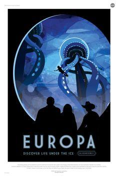 Nasa lanserar en samling av futuristiska rymdturism-affischer.