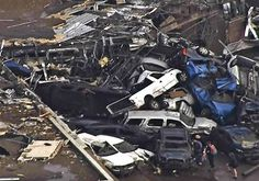 tornado+pictures+moore+ok+2013 | Aerial view of some of the tornado damage in Moore, Okla. Plaza Towers ...