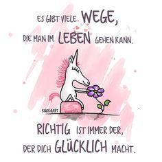 """💜 Es gibt viele #Wege,die man im #Leben  gehen kann. #Richtig ist immer der,der dich #Glücklich macht. 😘 ...habt alle noch'n schönes """"glückliches"""" Wochenende 🙌🏻☺️ 💟  #herzallerliebst  #spruch #Sprüche #spruchdestages #motivation ️  #thinkpositive ⚛ #themessageislove  #unicorn 🦄 #einhorn"""