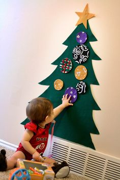 Felt Tree for the holiday of Christmas  baby friendly