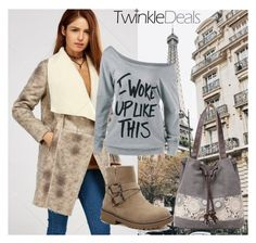 """""""TwinkleDeals FASHION !"""" by jasmine-monro ❤ liked on Polyvore featuring Boots, bag, Tshirt, coat and twinkledeals"""