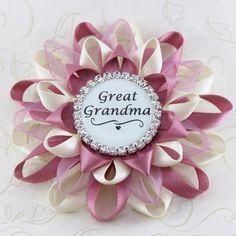 Great Grandma Pin, Grandma Gift, Gifts for Grandma, New Grandmother Gift, New Grandparent Gift, Pregnancy Reveal to Grandma, Aunt, Mom