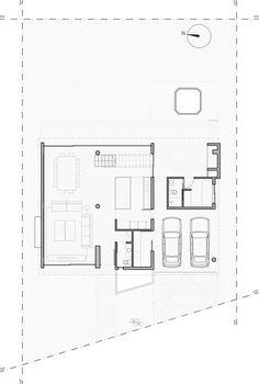 Inspírate: 5 casas modernas con sus planos  (de Marcela Núñez)