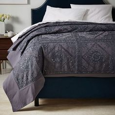 Polly Upholstered Bed   west elm ...I need this bedspread.