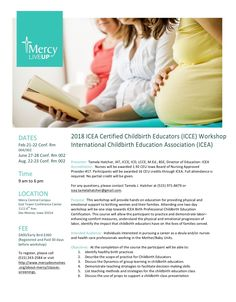 19.2 Iowa Board of Nursing CEU's provided. Completes requirements for the International Childbirth Education Association (ICEA) workshop certification.  Meets requirements for Doula of North America/Doula International (DONA) and ICEA re certification contact hours.