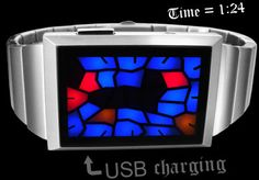 Stained glass LED watch from TokyoFlash. I like this concept the best.