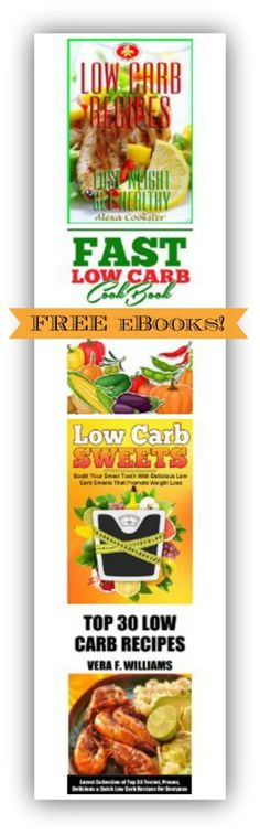 4 FREE Low-Carb Kindle eBooks - SKINNY on LOW CARB