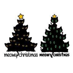 Meow Christmas Tree SVG Cuttable Design