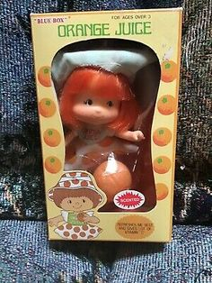 1981 ORANGE JUICE Doll In Box! Look Here For Strawberry Shortcake Dolls & Toys! - $4.99   PicClick Strawberry Shortcake House, Vintage Strawberry Shortcake Dolls, Vintage Stuff, Vintage Dolls, Purple Pie Man, Baby Orange, Detective Conan Wallpapers, Doll House Crafts, Angel Cake