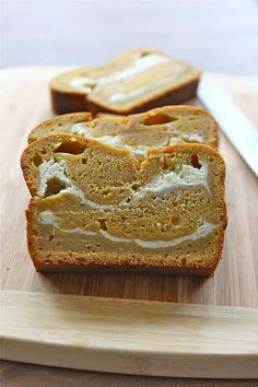 OMG pumpkin cream cheese bread!! Since my Pumpkin Rolls didn't work out last year!