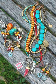 HIPANEMA Set cha/înes Cheville Lizzie Multicolore
