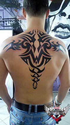 Photo tattoo Yuri Yareshko - Tattoo patterns on the back, .- Фото тату Юрий Ярешко – Тату узоры на спине, Photo tattoo Yuri Yareshko – Tattoo patterns on the back, the # back # patterns - Tribal Back Tattoos, Tribal Dragon Tattoos, Tribal Shoulder Tattoos, Wrist Tattoos For Guys, Tribal Tattoo Designs, Tattoo Sleeve Designs, Full Body Tattoo, Tattoo On, Body Art Tattoos