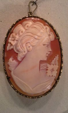 Check out antique cameo estate brooch or pendant 1.5x1.25 inch Genuine shell on syrinxasylumarts