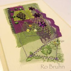 Ro Bruhn's Fabric Cards
