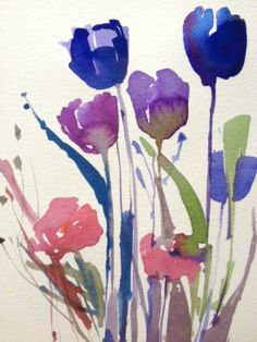 Original Water Colour Painting 'Floral Arrangement'. Signed.