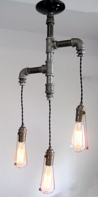 diy pipe chandelier for a bathroom?