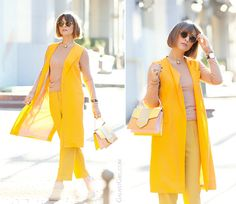 zara orange vest and sara battaglia bag, spring outfit, fashion trends 2015, galant girl