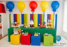 Venha se apaixonar por esta linda Festa Patati Patatá.Imagens do blog Comemore Sempre Festas e Eventos.Lindas ideias e muita inspiração.Um fim de semana maravilhoso para todo mundo.Bjs, Fabíola... 1st Birthday Party Themes, Rainbow Birthday Party, Carnival Birthday Parties, Boy First Birthday, Clown Party, Circus Carnival Party, Carnival Baby Showers, Circus Crafts, Rainbow Parties