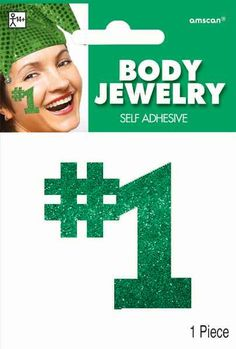 Green #1 Body Jewelry | 1 Piece