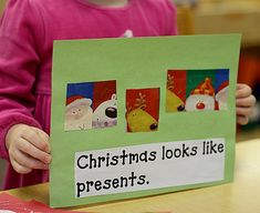 Christmas Senses Book - Holiday Book Making in Preschool