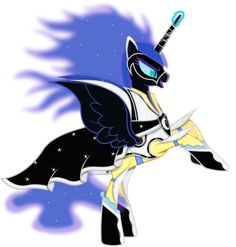 Nightmare Moon as a Power Pony by 90Sigma on deviantART