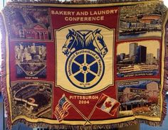 Woven Teamster Bakery and  Laundry Workers conference rug banner