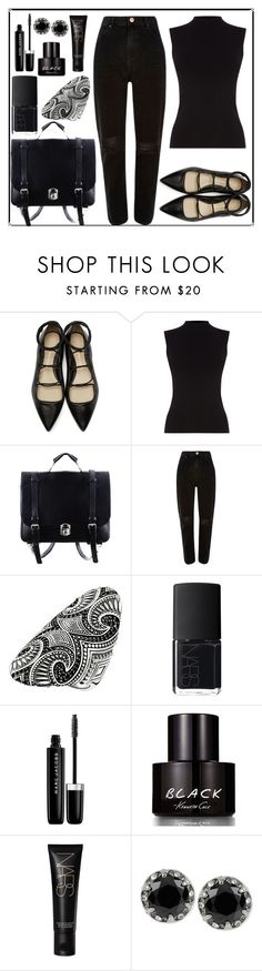 """""""everything was black."""" by rostovskaya-regina on Polyvore featuring мода, 3.1 Phillip Lim, Oasis, River Island, Thomas Sabo, NARS Cosmetics, Marc Jacobs, Kenneth Cole и Betsey Johnson"""