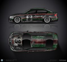 Old livery wrap design concept #9 for BMW M3 E90