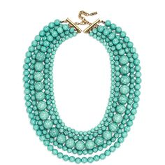 BaubleBar Globe Strands ($38) ❤ liked on Polyvore featuring jewelry, necklaces, turquoise beaded jewelry, bead jewellery, polish jewelry, bead necklace and turquoise necklace