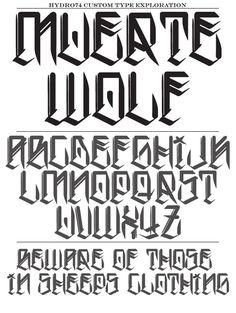 057 -Hydro74 New Typefaces by Joshua M. Smith, via Behance