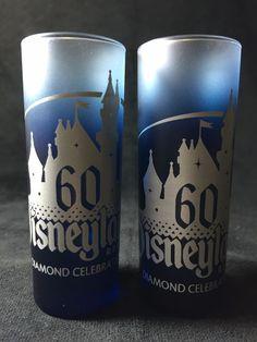Disneyland Diamond Celebration 60th Anniversary Shot Glass 2 oz