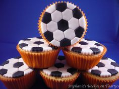 Voetbalcupcakes how to
