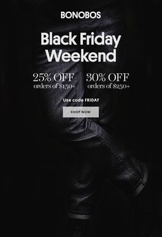 Bonobos Black Friday Email