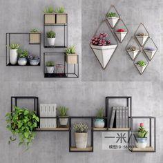 House Plants Decor, Plant Decor, Interior Walls, Interior Design, Wall Design, House Design, Vertical Garden Design, Style Deco, Plant Shelves