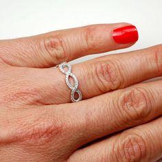 Diamond Ring Diamond Wedding Band Diamond Infinity Band by NIXIN