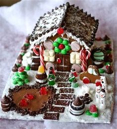 Merry Christmas! I made you a Chocolate Gingerbread House!