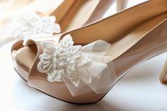 Bridal Lace Shoe Clips  Shoe Clips lace shoe by Glamtouchboutique, $45.00