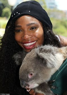 #Serena #Williams The World No 1 took time out before the #Hopman cup in Perth to see some of the Australian wildlife - 4th january 2015 By Getty Images
