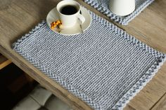 Handmade placemats, Set of 2 Knitted placemats, Table placematas by StichandTear on Etsy https://www.etsy.com/listing/499046393/handmade-placemats-set-of-2-knitted
