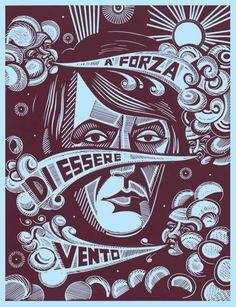 Fabrizio De Andrè visto da Stephen Alcorn