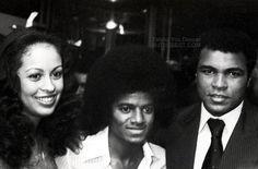 MJ & Muhammad Ali & his Mrs.